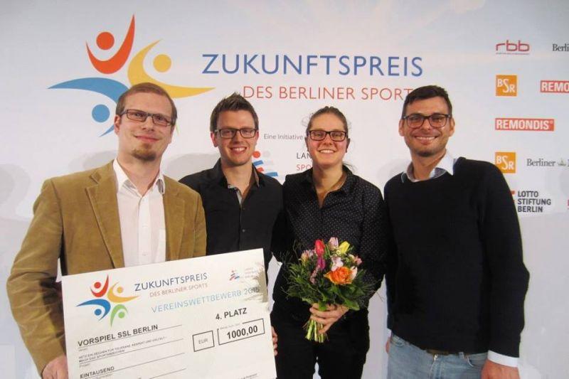 4. Platz für Vorspiel SSL Berlin und MANEO für das Projekt